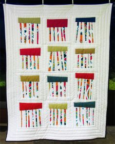 This reminds me of lovely rain clouds. Quilt by Ursula Gottschall.