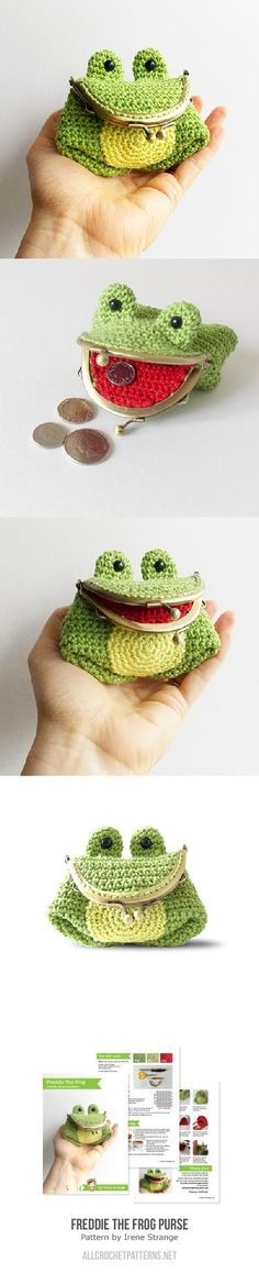 Freddie The Frog Coin Purse Crochet Pattern