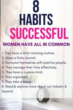 Habits, habits of successful people, healthy habits, successful women habit Quotes Dream, Life Quotes Love, Habits Of Successful People, Successful Women, Robert Kiyosaki, Good Habits, Healthy Habits, Tony Robbins, Marketing