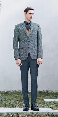 Sean OPry + Mathias Bergh Model Business Fashions for Hugo Boss Fall/Winter 2014 image boss business002