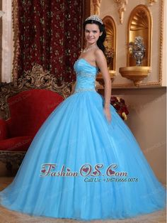 Classical Aqua Blue Quinceanera Dress Sweetheart Tulle and Taffeta Beading Ball Gown