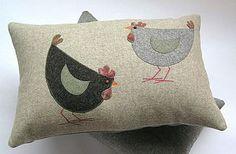 Cluck and pecker cushion - cushions