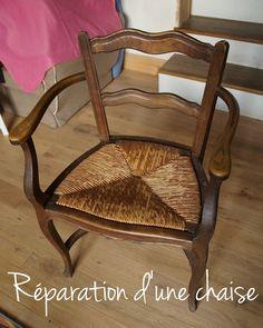Réparation d'une chaise