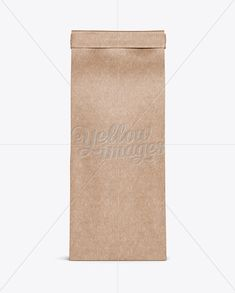Kraft Paper Bag w/ a Kraft Paper Tin-Tie Mockup - Front View