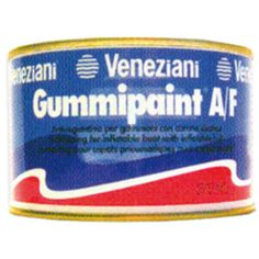 Antifouling para Neumaticas Gummipaint color Negro 0.375 Lt., Patente para Neumaticas Gummipaint Veneziani. Valido para flotadores de pvc, neopreno, h