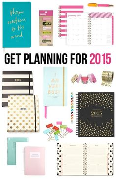 Love all these pretty paper planner options for 2015.  I love my devices, but I still need a paper calendar or planner.