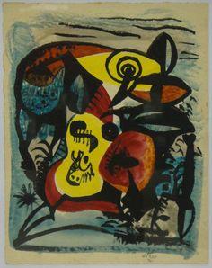 """ATHOS BULCÃO (1918 - 2008). """"Sem Título"""", aquarela e nanquim, 23 X 17. Assinado e datado (1941) bi c.i.d.  #Leilão Online hoje, 20/04/15 .  Participe e garanta seu lance!  Ao vivo a partir das 19h30!"""