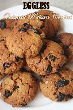 YUMMY TUMMY: Eggless Oatmeal Raisan Cookies Recipe