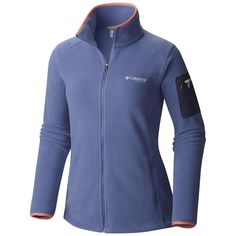 3dee868594ca Columbia Women s Titan Pass 2.0 Fleece Jacket Medium Bluebell Hot Coral.  Polartec 200 fleeceTrim