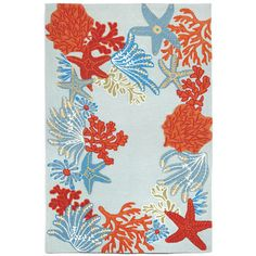 FREE SHIPPING! Shop Wayfair for Trans-Ocean Rug Ravella Ocean Scene Aqua Area Rug - Great Deals on all Decor products with the best selection to choose from!