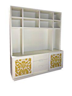 Organize your stuff with timeless furniture, like this custom Graham Media Cabinet.
