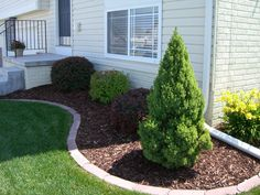 front flower bed ideas for edging/ landscaping