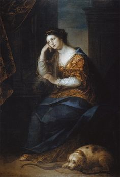 Penelope at her Loom | Angelica Kauffmann, 1764, Penelope at her LoomPenelope was the wife of ...