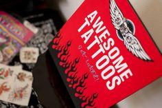 Motorcyle Birthday Party - Temporary Tattoos