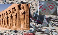 Escritos egípcios, comparando com os encontrados em Marte...