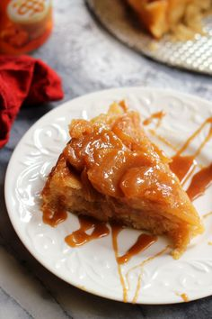 Sticky sweet apples and a caramel apple sauce top this decadent caramel apple upside down cake, making it perfect for breakfast, brunch, or dessert.
