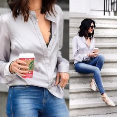 Get this look: http://lb.nu/look/8589697  More looks by Amber: http://lb.nu/loveambervictoria  Items in this look:  Guess Satin Blouse, Mode Collective Cross Pointed Toe Flats