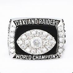Now available in our store  Size 8 to 14! 197... Check it out here! http://championshipringsandmore.com/products/size-8-to-14-1976-super-bowl-oakland-raiders-championship-ring-replica?utm_campaign=social_autopilot&utm_source=pin&utm_medium=pin