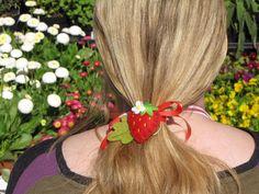 Happyfilz 2 Frische Erdbeeren ;0) Filz, Wolle von Sonja Sonnenschein auf DaWanda.com
