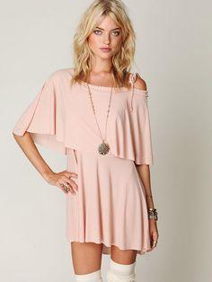 pail pink jersey dress