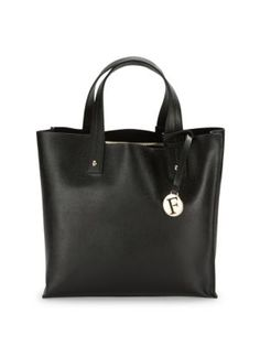 FURLA Textured Leather Tote. #furla #bags #leather #hand bags #tote #