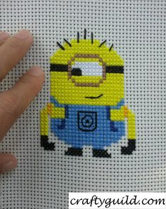 Carl the Minion Free Cross Stitch Pattern - Crafty Guild