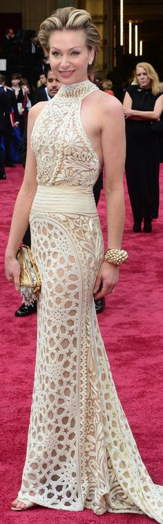 Portia de Rossi at the 2014 Academy Awards wearing Naeem Khan | The House of Beccaria