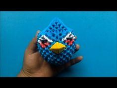 Origami 3D Angry birds (Azul) - YouTube