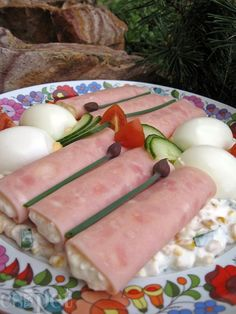 egycsipet: Tormás sonkatekercs Cold Dishes, Fresh Rolls, Pickles, Salads, Appetizers, Low Carb, Gluten Free, Cheese, Homemade