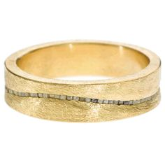 Todd Reed | Raw Elegance  18ky gold with wavy line of raw diamond cubes (.81ctw)
