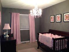 Baby girl nursery: love the idea of a chandelier