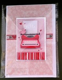 """Handmade 6"""" x 4"""" Decoupage Love and Valentine's Card by Prettythings20 on Etsy"""