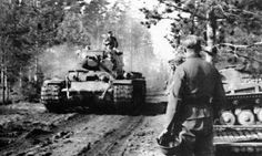 Captured KV-1 and PzKpfw II of the 8th Panzer Division