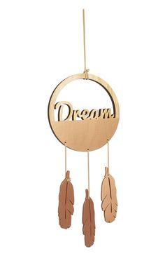 Primark - 'Dream' Wooden Feather Dreamcatcher