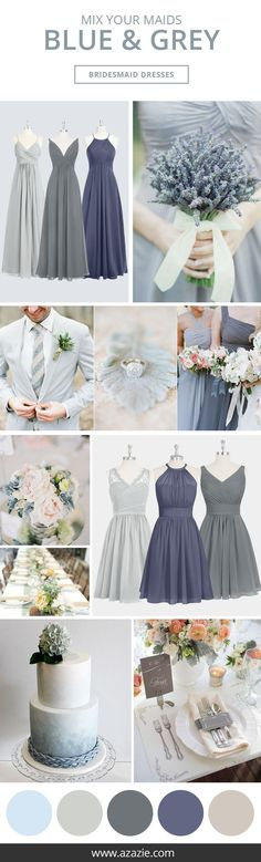 Wedding Themes Azazie is the online destination for special occasion dresses. Our online boutique connects bridesmaids and brides with over 400 on-trend styles, where each is available in 50 colors. Gray Weddings, Blue Wedding, Trendy Wedding, Dream Wedding, Wedding Day, Wedding Beach, Wedding Country, Wedding Stuff, 2017 Wedding