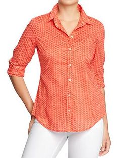 Womens Lightweight Printed Shirts   Old Navy