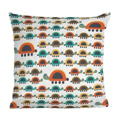 DENY Designs Gabriela Larios Colorful Turtles Throw Pillow | Pure Home