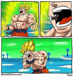 Image about funny in dragon ball z by Galick_gunner Funny Cartoons, Funny Comics, Dbz Memes, Manga Dragon, Super Funny, Disney Pop, Dragon Ball Z, Funny Pictures, Fan Art