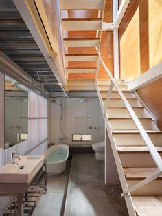 love stairway storage possible under the lower tier.
