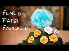 Flores de papel, hechas con sus propias manos. Composicion para un regalo. Parte 2. - YouTube
