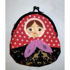 Coin purse Babushka (clip) black   #russiandoll #matryoshka #dollsindolls #decor #traditional #kids #toys #handmade