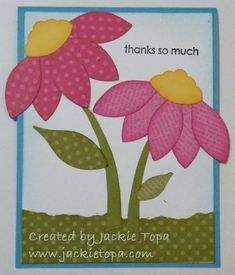 DSP Flowers gotta make this card.. maybe with my Michael Strong Leaves and a scallop punch!! (personal note to self.. ;-))