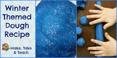 Winter themed dough recipe. Make learning fun with hands-on activities.