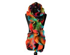 Felted scarf felt scarf felted collar felted multicolor rainbow felt colorful felt spring boho OOAK by MarlenaRakoczy on Etsy https://www.etsy.com/listing/217702298/felted-scarf-felt-scarf-felted-collar