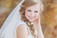 Relaxed wedding plait ideal for a rustic wedding.