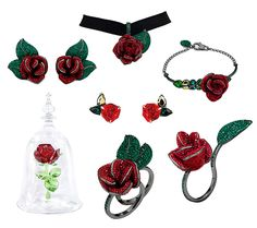 The Enchanted Rose From Beauty and the Beast Sparkles in New Swarovski Collection