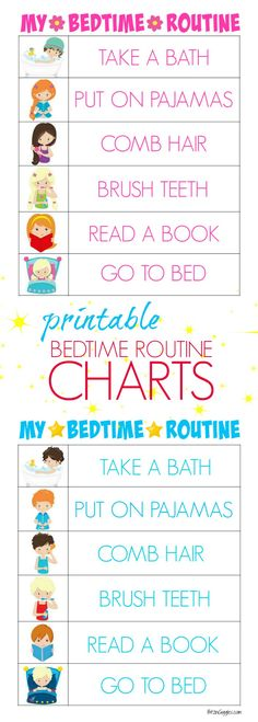 Get ready for back to school with these Printable Bedtime Routine Charts. Free printable kids bedtime routine charts to help teach kids independence and provide guidance for their evening routine! Parenting Advice, Kids And Parenting, Parenting Styles, Parenting Classes, Foster Parenting, Parenting Humor, Bedtime Routine Chart, Bedtime Routine Printable, Kids Routine Chart