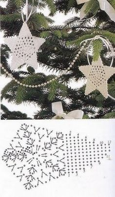 Crochet Motifs and Apliques ⋆ Page 5 of 18 ⋆ Crochet Kingdom Christmas Crochet Patterns, Crochet Christmas Ornaments, Holiday Crochet, Christmas Snowflakes, Christmas Balls, Christmas Crafts, Christmas Decorations, Christmas Star, Crochet Motifs