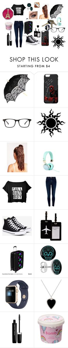 """""""Just bey"""" by katelyn0877 ❤ liked on Polyvore featuring Missguided, River Island, Converse, TravelSmith, Jennifer Meyer Jewelry, Marc Jacobs, Cloud 9 and Betsey Johnson"""
