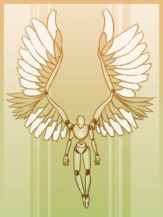 "anatoref: "" Winged People Top Image, by E.B. Hudspeth Row 2 & 3 Row 4 Row 5 & 6 Row 7 Bottom Image """